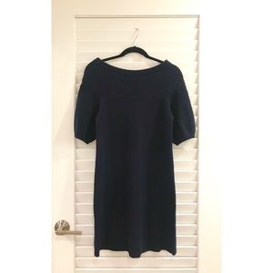 NWT BCBG MAXAZRIA Navy Wool Sweater Tunic